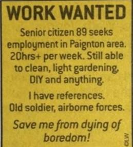 老後が孤独すぎて「仕事を求める広告」を出した89才の男性