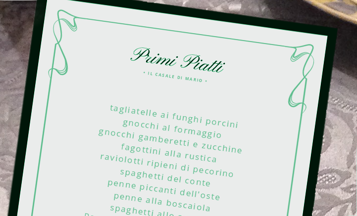 イタリアのレストランで提供されたメニューを写真で紹介