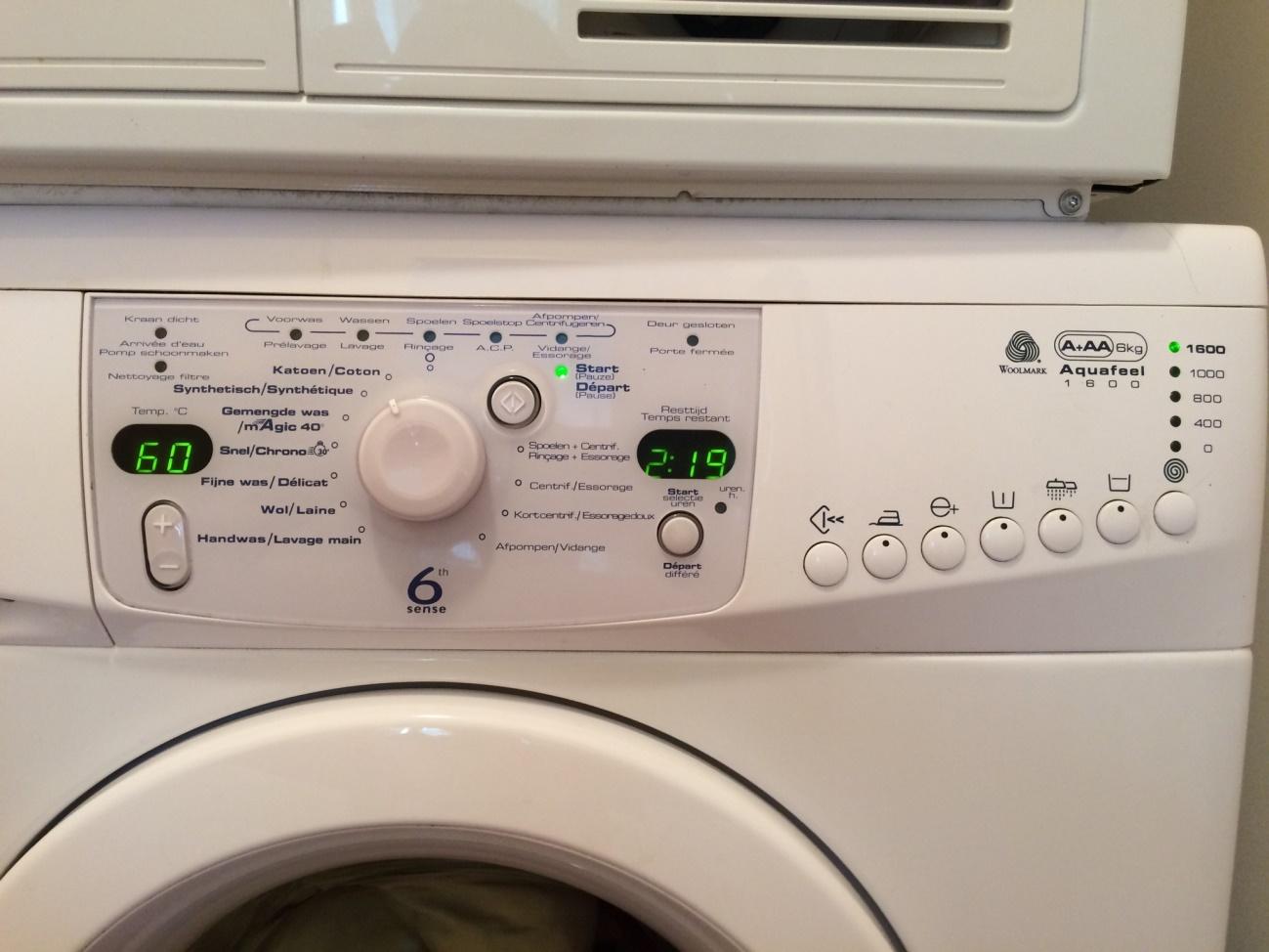 ベルギーの洗濯機はメーカーが違ってもデザインは同じ?